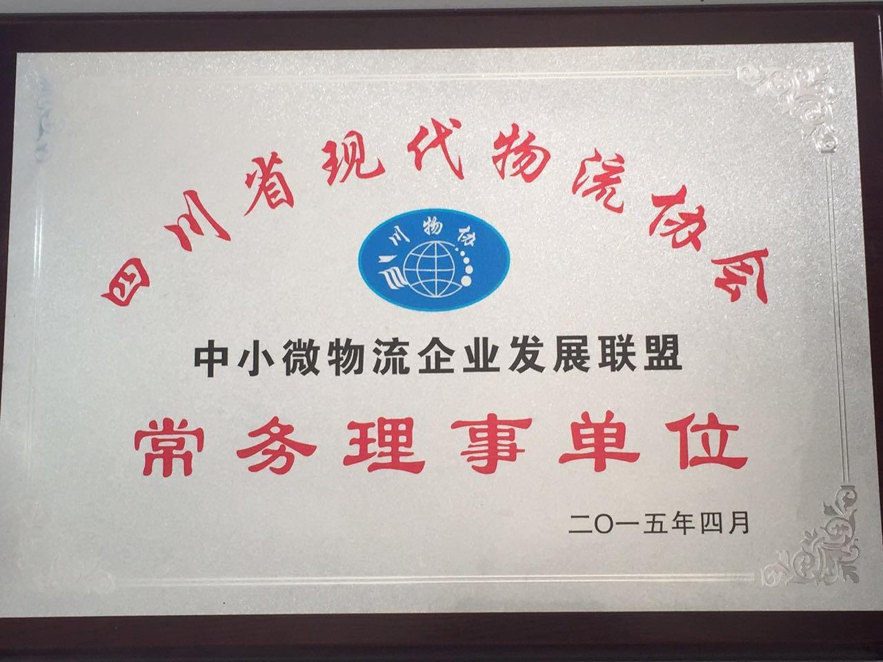 四川省现代物流协会常务理事单位